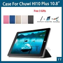 De alta calidad Ultra-delgado Caso Para CHUWI Hi10 plus 10.8 Pulgadas Tablet PC moda PU funda para el de chuwi hi10 plus + gratis 3 Regalos
