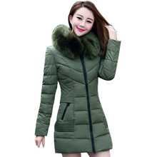 Plus Size Winter Jackets Women Coat Thickening Warm Cotton Wadded Down Women's Coat Faux Fur Stand Collar Female Clothing A0189