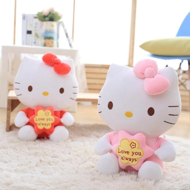 25CM Top Quality Cheap Hello Kitty, plush toys for children kids baby toy,lively lovely doll hello kitty toy free shipping 1 pcs 7 5 19cm lovely small hold heart hello kitty plush toys baby toy hello kitty doll girls christmas gifts