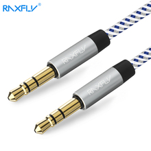 RAXFLY 3.5MM Male to Male Audio Cable For Car Speaker Headphone 3.5 Jack Phone MP3 Gold Plated Jack 3.5 AUX Cable [ 0.5M 1M 2M ]
