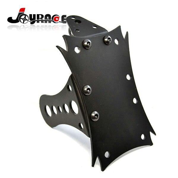 цена на Universal Multi Position Side Mount Metal Black Motorcycle License Plate Bracket