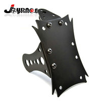 Universal Multi Position Side Mount Metal Black Motorcycle License Plate Bracket