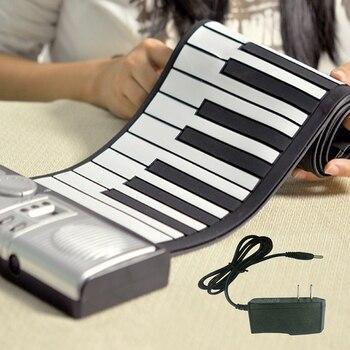 Teclado portátil plegable de 61 teclas, teclado Digital enrolladas, piano Electrónico para...