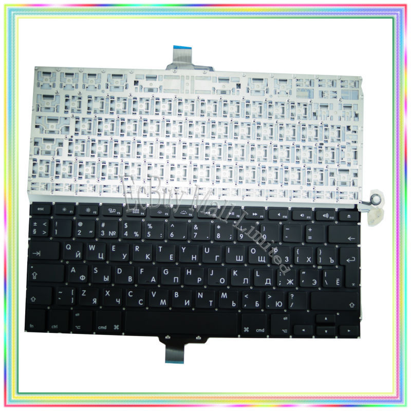"Brand new Russian RU Keyboard without Backlight for Macbook Pro 13.3 inch"" A1278 2009-2014 Years"""