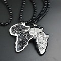 Luxury Brand Africa Map Good Wood Hip Hop Necklace Fashion Style Men Beads Chain Pendants Necklaces Jewellery Wholesa