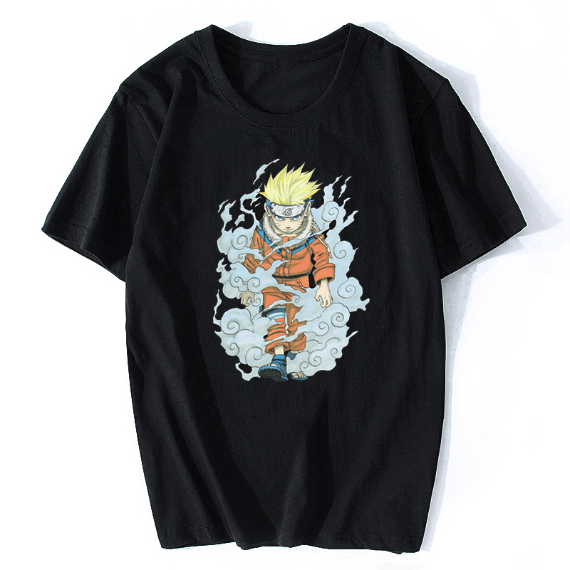 Noisy Ninja Uzumaki Naruto Cotton Men Cool Japan Anime Otaku T-shirt Aesthetic Harajuku Streetwear Camisetas Hombre T Shirt Men