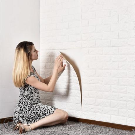 DIY 3D Wall Stickers Self Adhesive Foam Brick Room Decor Wallpaper Wall Decor Living Wall Sticker For Kids Room 70x77cm