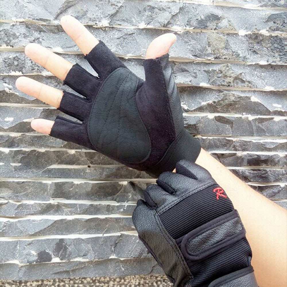 Luxurious Gifts Hiking Sports Running Cycling Gloves Men Tactical Outdoor Sports Bike Bicycle Half Finger PU Leather Gloves