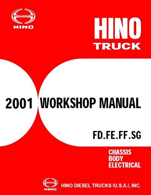 HINO грузовик полный набор руководства по обслуживанию 2001 2018