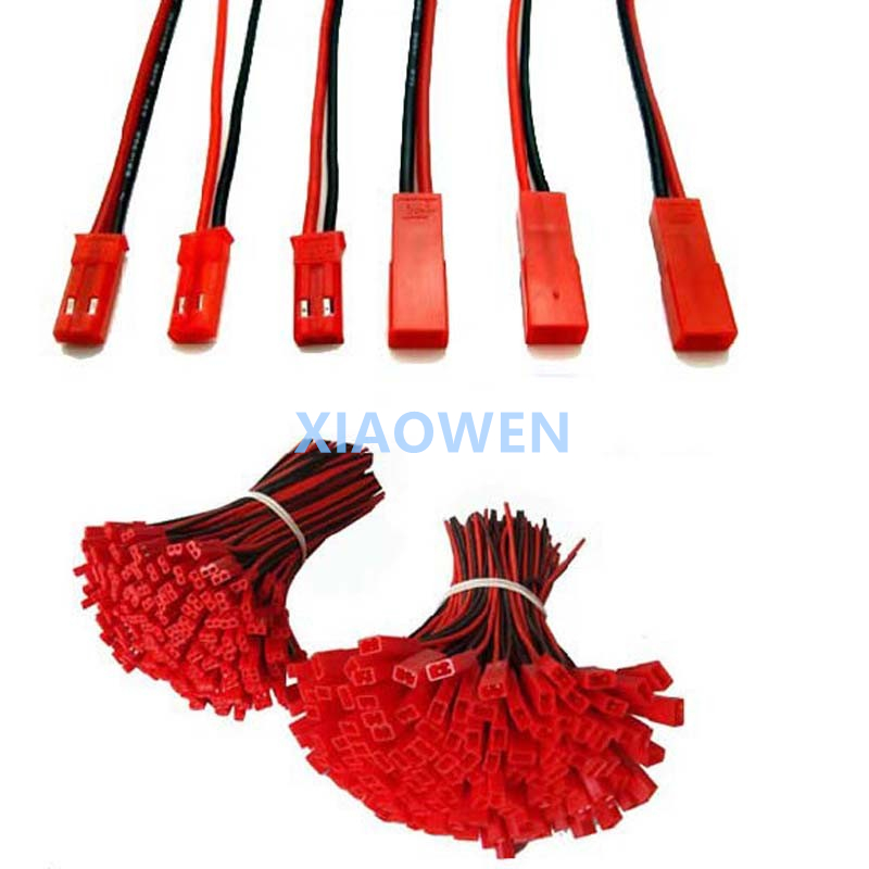20PCS(10 Pairs)  2 Pin JST  150mm Pitch 2.54mm Male And Female Wire Connector Plug Cable   For DIY RC  Battry Model