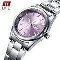 TTLIFE Luminosa Relógios das Mulheres Marca de Luxo Completa Steel Business Casual Relógios de Pulso Das Mulheres Semana Data Analógico Relógio de Quartzo Feminino