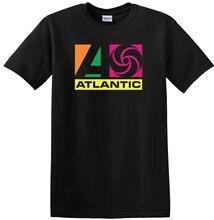 ATLANTIC RECORDS BLACK CREW NECK SHORT SLEEVE TSHIRT RETRO2018 New Arrival Men'S Fashion Brand T-Shirt Men 2018 Fashion