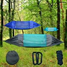 New Ultralight Outdoor Camping Hunting Hammock With Mosquito Net 2 Person Flyknit Hamaca Garden Hanging Bed Leisure Hammock ultralight mosquito net hunting hammock camping mosquito net travel mosquito net leisure hanging bed for 2 person outdoor