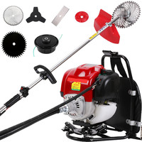 Backpack GX35 petrol stimmer 4 stroke 6 in 1 Brush cutter,Weeder Cutter lawn mower hedge trimmer