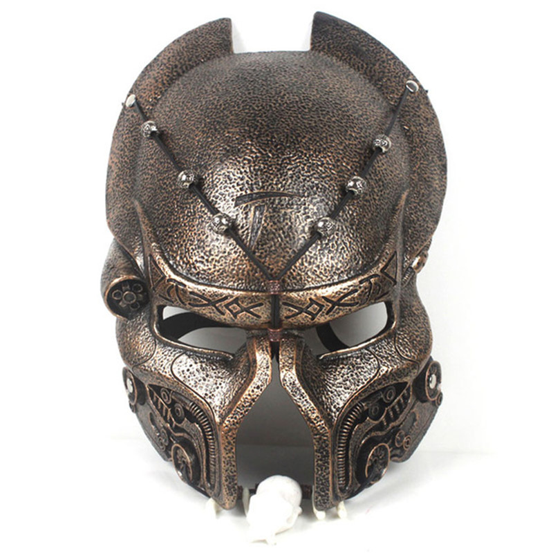 Halloween Scary Predators Airsoft Full Face Mask Predators Resin Masquerade Masks Party Cosplay Costume Props Game L1704 predator design face mask halloween props