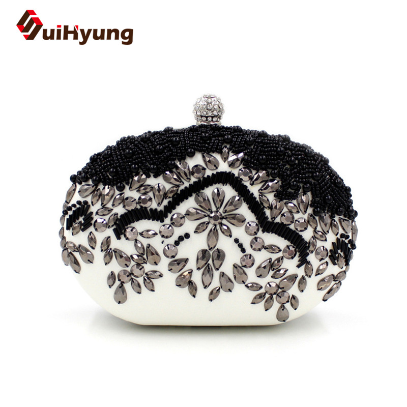 ФОТО Vintage Beaded Women Handbags Party Evening Bags Retro Beading Pearl Diamond Banquet Clutch Bags Ladies Wedding Day Clutch Purse
