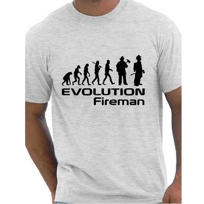 Men's Cotton O Neck T-shirt  Evolution Of A Fireman Firefighter T shirt More Size and Colors New Men Short sleeve T-Shirt #3014