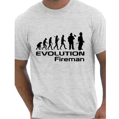 Men's Cotton O Neck   T  -  shirt   Evolution Of A Fireman Firefighter   T     shirt   More Size and Colors New Men Short sleeve   T  -  Shirt   #3014