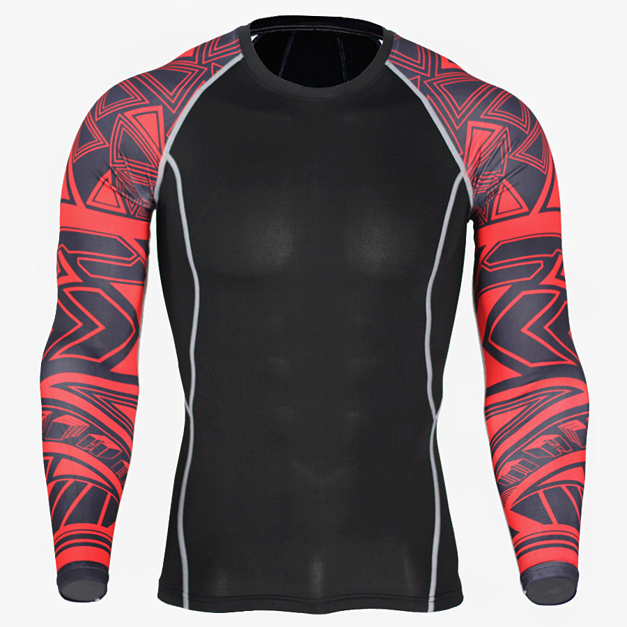Sports quick-drying clothes men's T-shirt running elastic training compression clothing