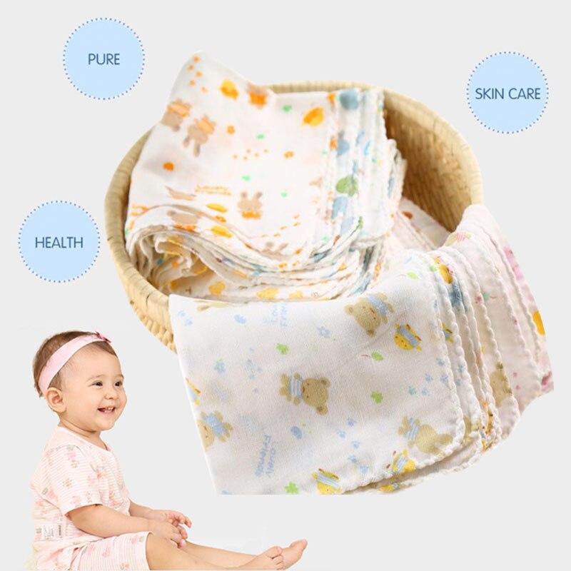 1Pcs Baby NewBorn Boys Girls Gauze Muslin Square Cotton Feeding Bath Facecloth Wash Cloths Towel 31*31