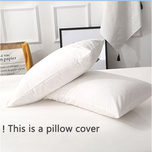 Waterproof Pillow Protector Cheapest Smooth Pillowcase 50*70 Size For  Wetting Block Bed Bugs Dust
