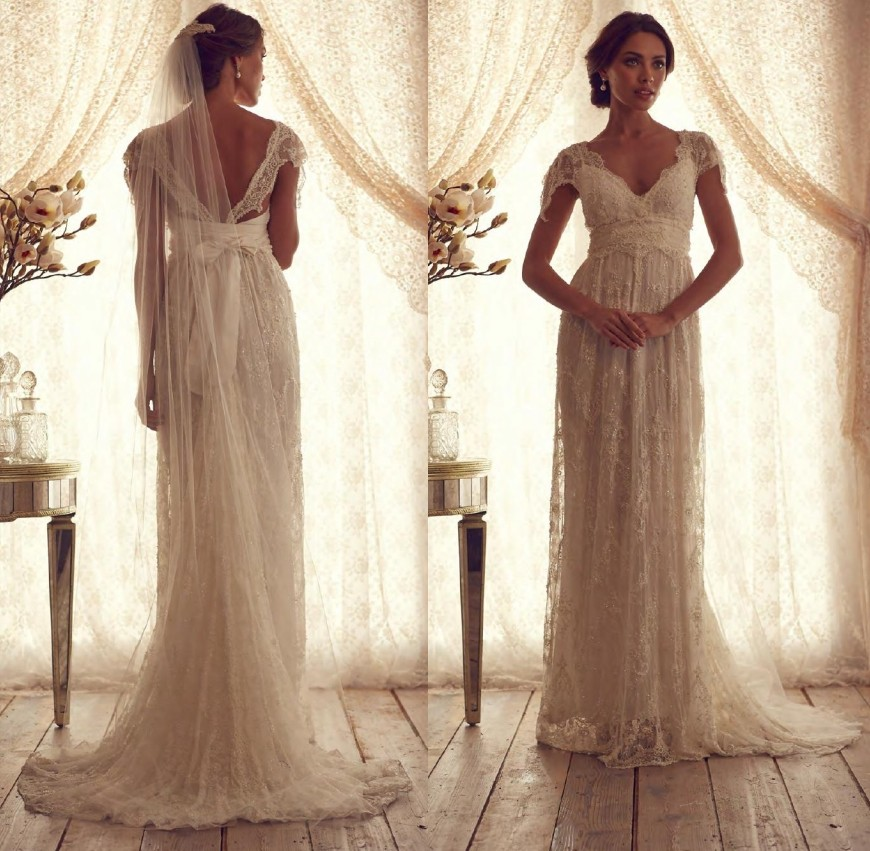Compare prices on country nature online shopping buy low for Anna campbell vintage wedding dress