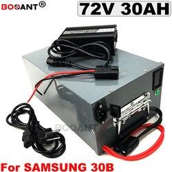 72 V 30Ah litowo rower elektryczny akumulator dla Samsung 18650 30B 1500 W 2500 W 3000 W 72 v akumulator elektryczny rower + metalowe pudełko w Akumulator do rowerów elektrycznych od Sport i rozrywka na