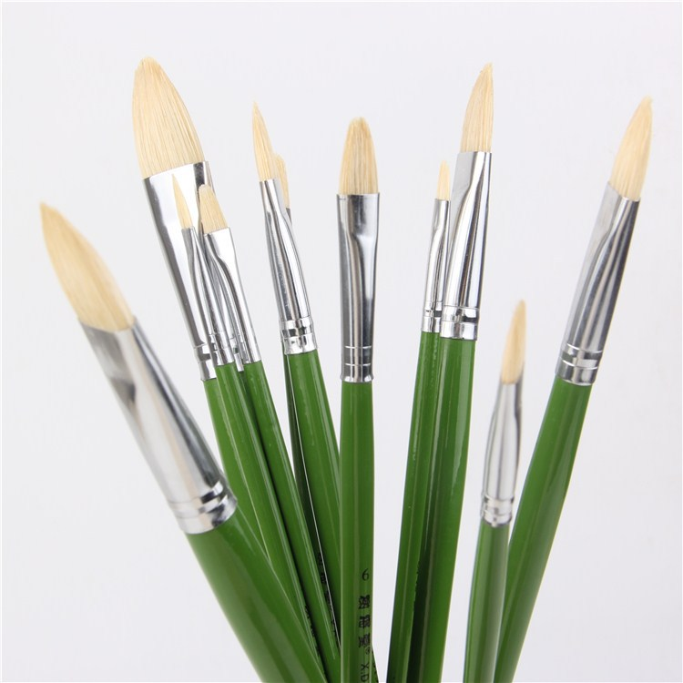 6pcs set direct manufacturers pig bristle artist oil for Wholesale craft paint brushes