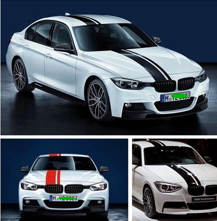 1 set Car hood decal sticker vinyl sticker car body decorative sticker car lines for BMW E46 E90 F30 Audi A3 A4 A6 A5