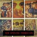 Cartazes jogo Street Fighter 4 5 Li Bai Chun Gou arcade clássico nostalgia da infância Adesivos de Parede