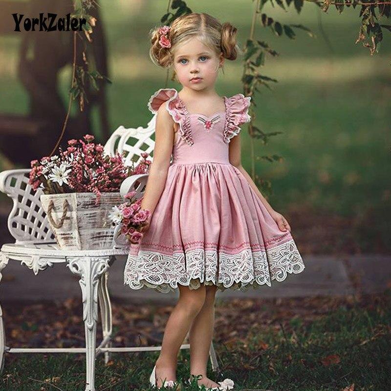 Yorkzaler Kids Dress For Girl Elegant 2018 Summer Gown Gril Mesh Flower Dress Toddler Gi ...