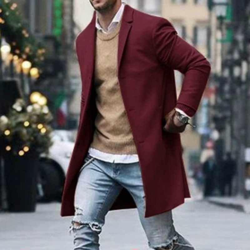 MJARTORIA 2019, новинка, весна-осень, мужской Тренч, на пуговицах, с длинным рукавом, одежда для фитнеса, модная, теплая, уличная, мужская, длинное пальто