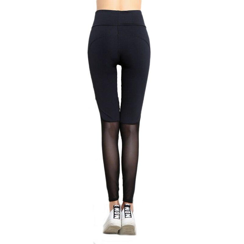 Vertvie Patchwork Yoga Leggings Women Mesh Patchwork Sport Leggings Running Fitness Yoga Pants Gym Tights Compression Trouser