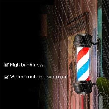 أحمر أبيض أزرق شريط الدورية ضوء المشارب علامة الشعر الجدار الشنق LED النازل 55 سنتيمتر محل حلاقة القطب الدورية الإضاءة