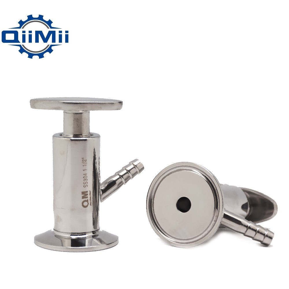 "Image 2 - QiiMii 1.5"" Sanitary Ferrule Tri Clamp Type Food Medicine Elliptic Sampling Valve Stainless Steel SS304 Clamp Sample Valve-in Valve from Home Improvement"
