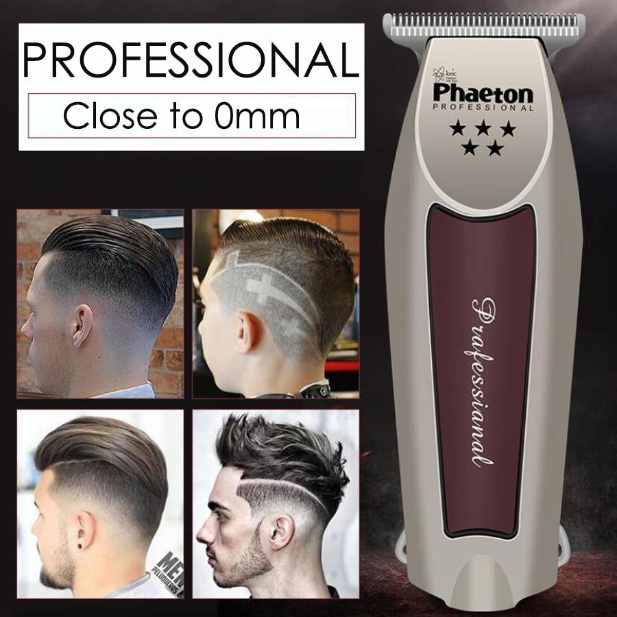 Precisión profesional Clipper pelo cortadora de cabello eléctrica cerca de 0mm de corte Calvo máquina de afeitar de Casa Barbero herramienta