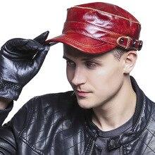 Новые модные мужские повседневные плоские шапки из овечьей кожи, Повседневная шапка с утиным язычком на весну, осень и зиму, мужские козырьки