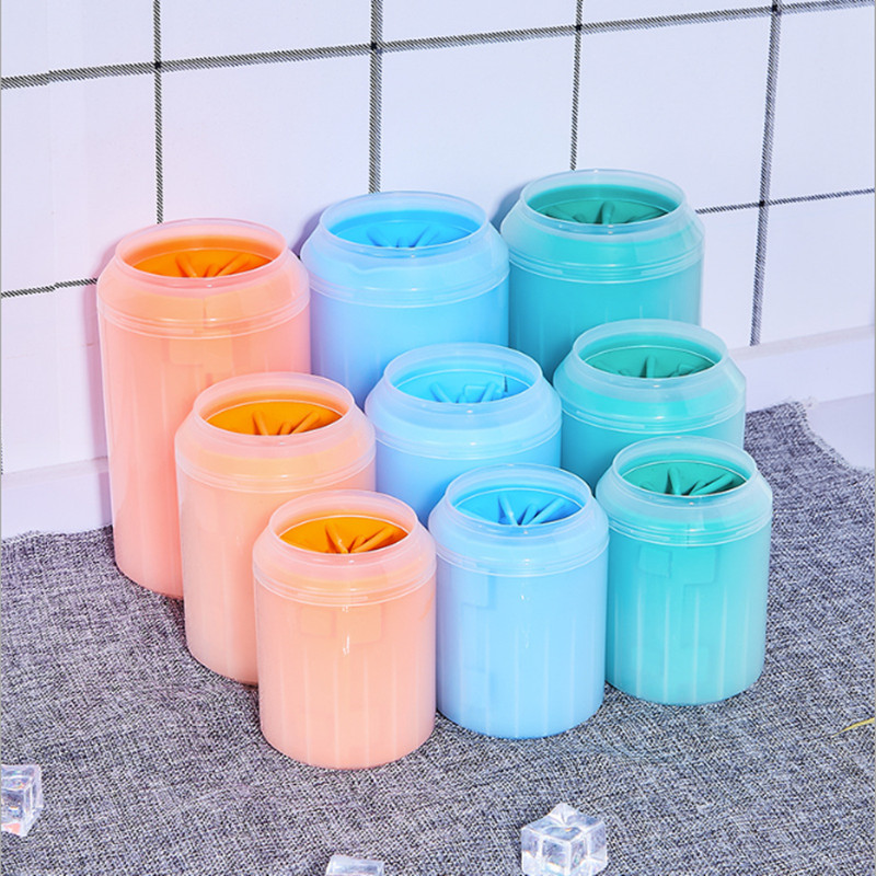 3 colors and Size Ceansing Paws Dog Wash Leg Foot Cleaner Pet Paw the of a