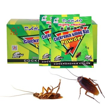 2019 New 50Packs High Effective Cockroach Powder Cockroach Killing Bait Insecticide Repellent Medicine Killer Trap Pest control фото