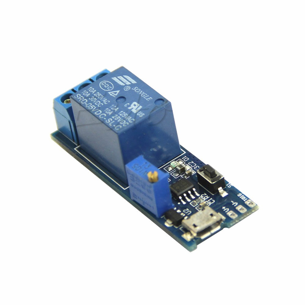 OOTDTY Precise 5V -30V Micro USB Power Relay Timer Control Module Trigger Delay Switch