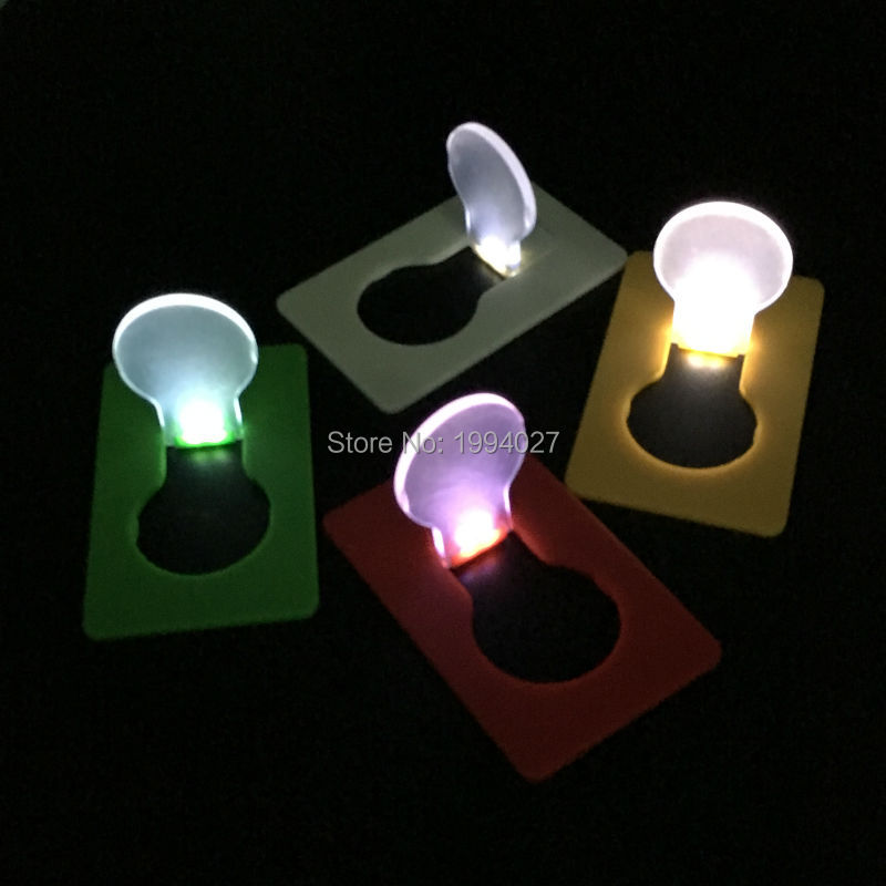 Hot Sale 2pcs/lot Outdoor Card Lamp Mini LED Folding Light  Portable Creative Flashing Promotional Gift Camping Accessories