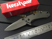 Kershaw Cryo II A O Folding blade Knife 1556TI 8Cr13Mov stainless steel plain Flipper frame lo Tactical knife pocket knife