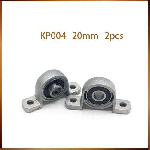 2Pcs Zinc Alloy Ball Bearing Housing Pillow Block Shaft Support KP004 KP005 KP006 KP007 Bearing pedestal Seat