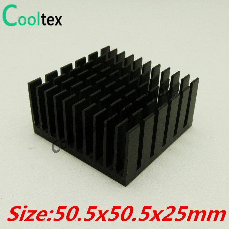 High Quality 10pcs/lot 50.5x50.5x25mm Aluminum HeatSink Heat Sink radiator for electronic Chip LED COOLER cooling recommende!!! 10pcs lot ultra small gvoove pure copper pure for ram memory ic chip heat sink 7 7 4mm electronic radiator 3m468mp thermal