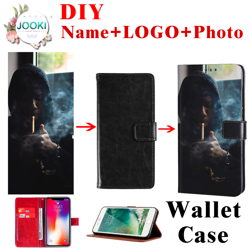 DIY Customized Cover For Samsung Galaxy A7 (2018) /A750 Wallet Leather Pouch Case For Samsung Galaxy A7 Protective Magnetic Flip