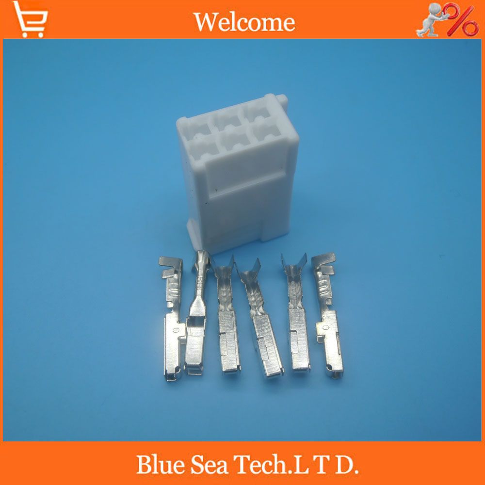 Malefemale Car Crimp Terminaldj611 22dj621 22 Terminal22 Auto Terminal Wiring Harness Terminals Dj621a 4 0a Product Images 6 Pin Female Part Head Lamp Lights Connectorket Waterproof Electrical
