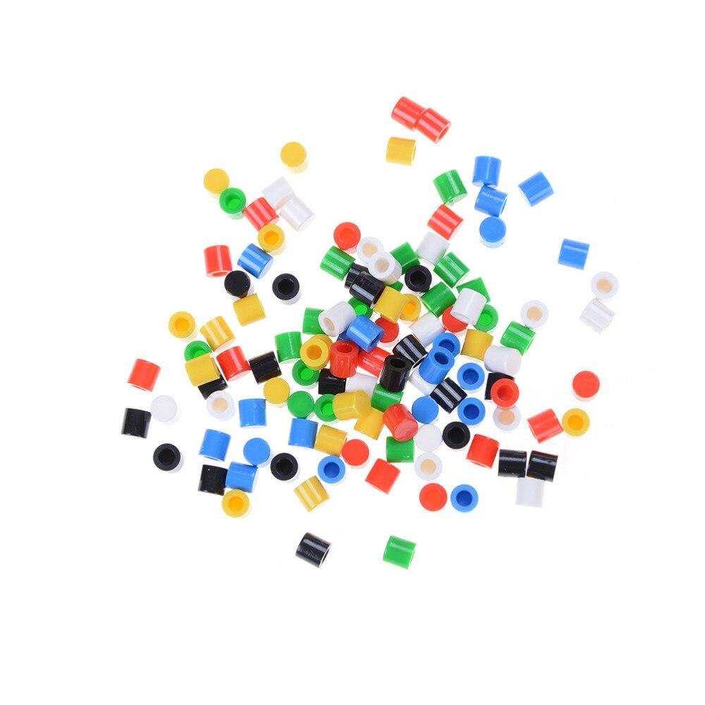 40pcs/lot Tactile Button Caps Plastic Cap Hat For 6*6 Tactile Push Button Switch Lid Cover Random Color