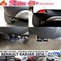 De alta Qualidade Para Renault dedicar Kadjar 2016 Styling exterior final tubo de escape silenciador de escape em aço inoxidável ponta da cauda quadro 1 pcs