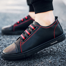 Men's Vulcanize Shoes slip-on elastic band casual shoes large size 5.5-11.5 hard-wearing shallow footwear man fashion