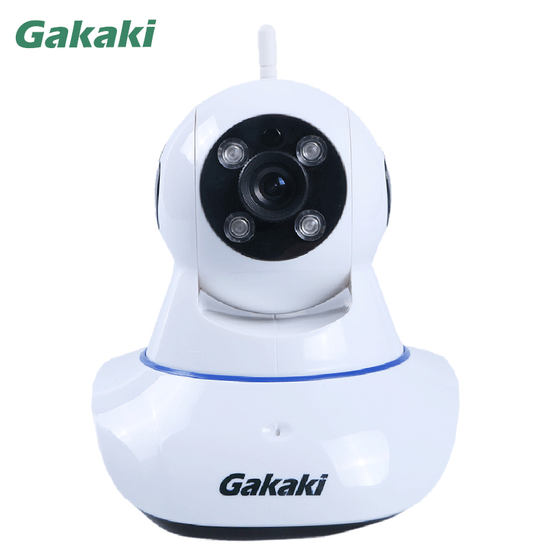 Gakaki 720P HD WiFi Wireless IP Camera Indoor Night Vision Video Surveillance CCTV Baby Monitor Support